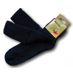 Long Navy Knee Length Wool Socks- Boys and Girls TWIN PACK