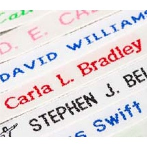 Woven Name Tapes - 36 labels (voucher card)