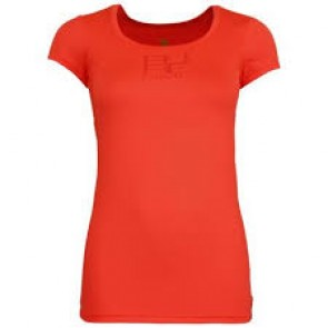 Pure Lime Ladies Movement RN Tee- Volcano Red