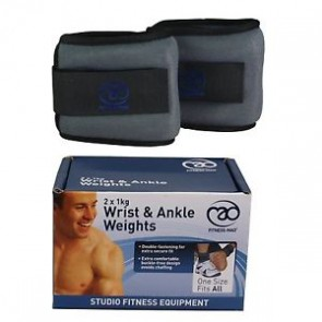 Fitness Mad Wrist and Ankle Weights 2x1kg