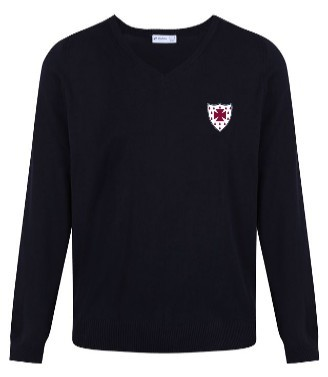 S. Anselm's Navy Prep Jumper- With Embroidered Badge