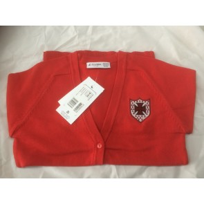 S Anselm's Red Pre-Prep Cardigan