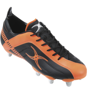 Gilbert Celera Zenon Low Junior Black/Orange 6 Stud