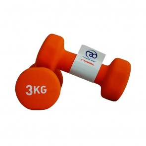 Fitness Mad 2x 3Kg Dumbell