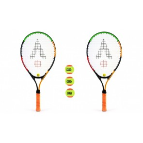 Karakal 2 Player 23'' Junior Tennis Set- 2 X Rackets 3 x Balls