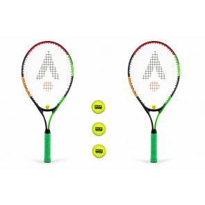 Karakal 2 Player 25'' Junior Tennis Set- 2 X Rackets 3 x Balls