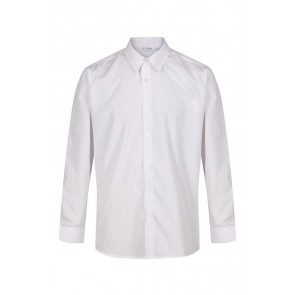 Trutex Boys Long Sleeved Non-Iron Slim Fit Shirt- Twin Pack
