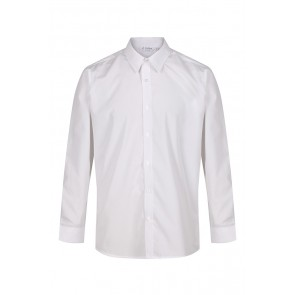 Boys Trutex Slim Fit White Shirts- Twin Pack