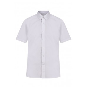 Trutex Boys Short Sleeved Non-Iron Slim Fit Shirt- Twin Pack