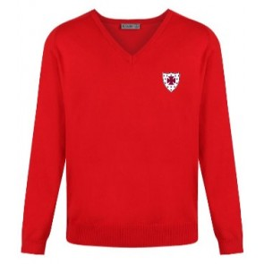 S. Anselm's Red Pre Prep Jumper with Embroidered Badge