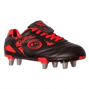 Optimum Razor Rugby Boot- Red/Black