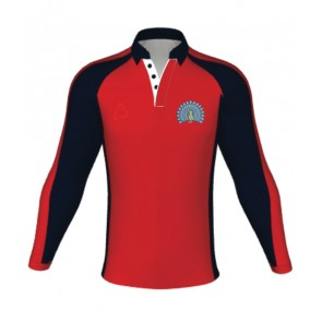 Lady Manners Rugby/Games Shirt Red Glossop- AVAILABLE AUGUST 2018