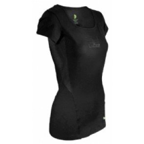 Pure Lime Ladies Movement RN T-shirt- black