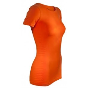 Pure Lime Ladies Seamless T-shirt- Orange