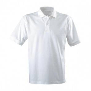 Highfields' White Polo Shirt- WITH BADGE
