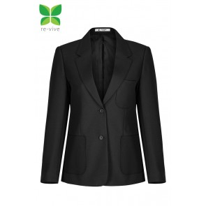 Girl's Trutex Blazer (ZIPB) - Black - Smaller Sizes